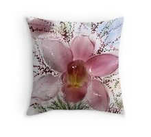 orchid at large Throw Pillow
