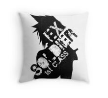 Cloud Strife ex-SOLDIER Throw Pillow