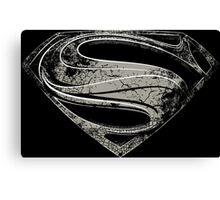 SUPERMAN | MAN OF STEEL BLACK Canvas Print