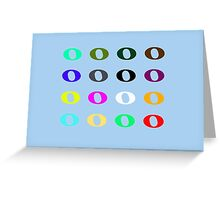 16 Whole Notes Greeting Card