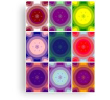 Psychedelic Circles Canvas Print