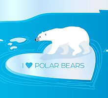 Love Polar Bears - ice heart by PepomintNarwhal