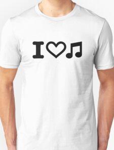 I love music note Unisex T-Shirt