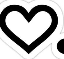 I love music note Sticker