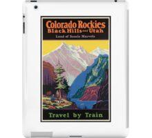 Colorado Rockies Travel Poster iPad Case/Skin