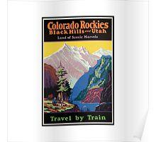 Colorado Rockies Travel Poster Poster