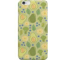 Avocado and broccoli iPhone Case/Skin