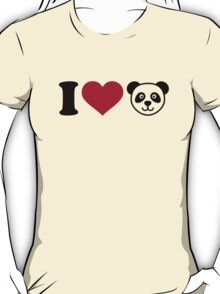 I love Panda Bear T-Shirt
