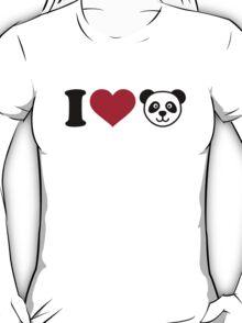 I love Panda Bear T-Shirt