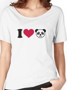 I love Panda Bear Women's Relaxed Fit T-Shirt