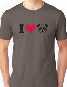 I love Panda Bear Unisex T-Shirt