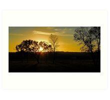 Sunset on Willow Wood Golf Course in North Dakota Art Print