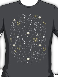 cosmos and stars. sepia T-Shirt