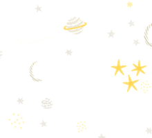 cosmos and stars. sepia Sticker