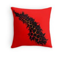 Red Leopard Print Ripped Tear Design  Throw Pillow