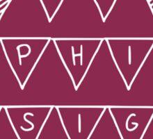 Phi Sig Banner Sticker