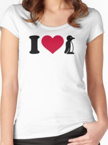 I love Penguin Women's Fitted Scoop T-Shirt