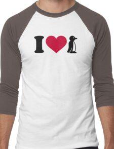 I love Penguin Men's Baseball ¾ T-Shirt