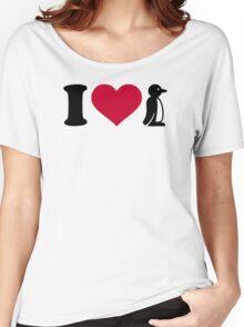 I love Penguin Women's Relaxed Fit T-Shirt