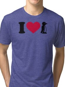 I love Penguin Tri-blend T-Shirt