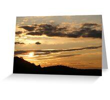 Blazing Sky Greeting Card