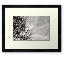 Textured Cloudy Sky (with Silhouette) Framed Print