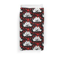Bull Terriers In Love Duvet Cover