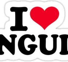 I love Penguins Sticker
