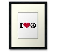 I love heart Peace Framed Print