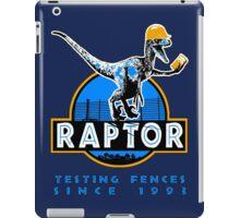 Raptor. Testing the fences since 1993 ('Blue' edition). iPad Case/Skin