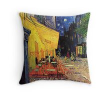 The Cafe Terrace on the Place du Forum, Arles, at Night,  Vincent van Gogh Throw Pillow
