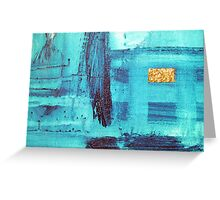 blue fields Greeting Card