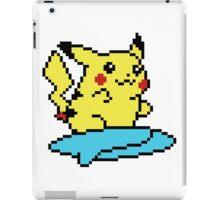 Pikachu surf - pixelart iPad Case/Skin