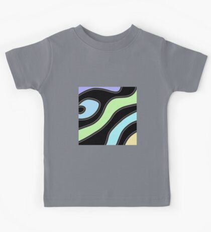 Blue wave, modern abstract design, Alice Kelly ART Kids Tee