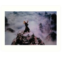 Who Am I and What Movie is this?? SOLVED JET LI IN FORBIDDEN KINGDOM Art Print
