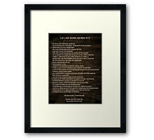 Word Art - A Baby Boomer and Proud Of It Framed Print