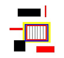Primary color abstract design, gifts and decor by ackelly4