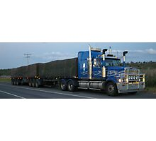 WESTERN STAR B-DOUBLE AT DUSK Photographic Print