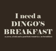 Dingo's Breakfast by Sharon Stevens