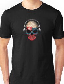Dj Skull with Slovakian Flag Unisex T-Shirt