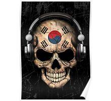 Dj Skull with South Korean Flag Poster
