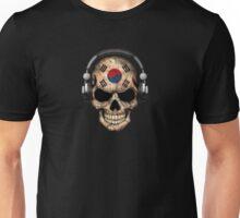 Dj Skull with South Korean Flag Unisex T-Shirt