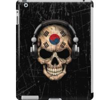 Dj Skull with South Korean Flag iPad Case/Skin