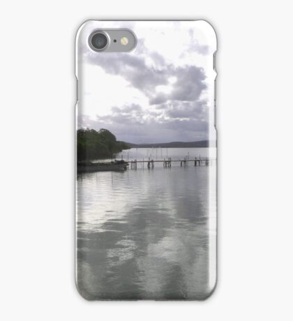 Clouds Closing in over the Inlet. Karuah, Princess Hwy. N.S.W. Aust. iPhone Case/Skin