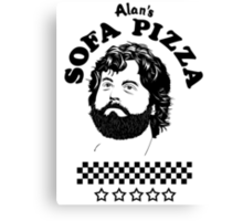 Superstar is Alan's Sofa Pizza new Canvas Print