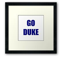 Go Duke! Framed Print