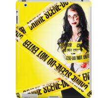 Dead zombie wrapped in tape at crime scene iPad Case/Skin
