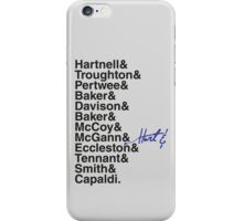 DOCTOR WHO THE DOCTORS' NAMES iPhone Case/Skin