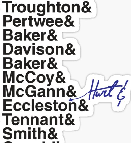 DOCTOR WHO THE DOCTORS' NAMES Sticker