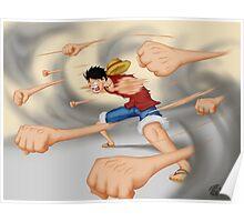 Luffy-Gatling Gun  Poster